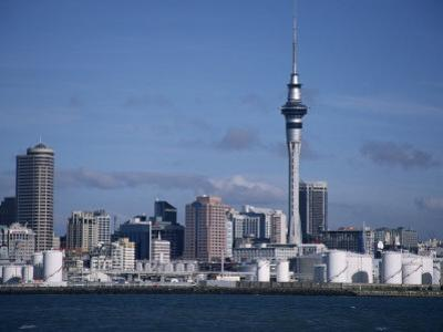 View of City and Tower from the Water, Auckland, North Island, New Zealand