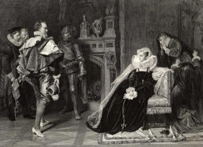 Mary Queen of Scots is Told of Her Imminent Execution
