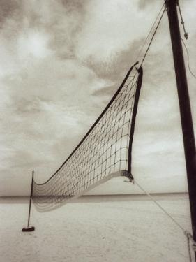 Volleyball Net on the Beach, Cancun, Mexico by D. Robert Franz