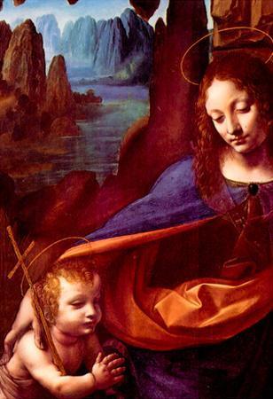 Da Vinci Maria and Christ Art Print Poster