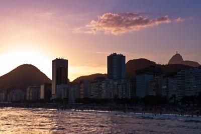 Copacabana Beach by Sunset, Rio De Janeiro, Brazil by dabldy