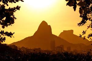 Rio De Janeiro Mountains by Sunset by dabldy