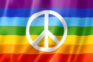 Rainbow Peace Flag by daboost