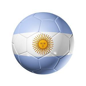 Soccer Football Ball With Argentina Flag by daboost