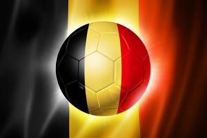 Soccer Football Ball with Belgium Flag by daboost