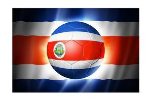 Soccer Football Ball with Costa Rica Flag by daboost