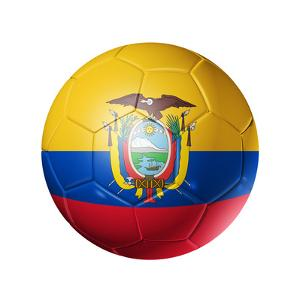 Soccer Football Ball with Ecuador Flag by daboost