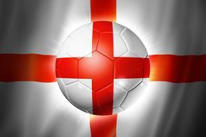 Soccer Football Ball with England Flag by daboost