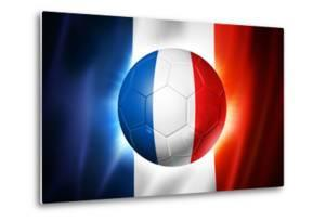 Soccer Football Ball with France Flag by daboost