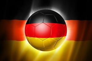 Soccer Football Ball with Germany Flag by daboost