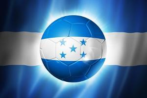 Soccer Football Ball with Honduras Flag by daboost