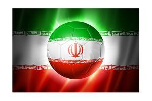 Soccer Football Ball with Iran Flag by daboost