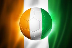 Soccer Football Ball with Ivory Coast Flag by daboost