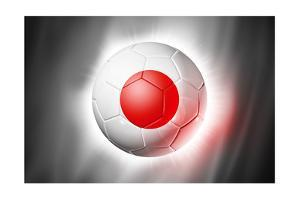 Soccer Football Ball with Japan Flag by daboost
