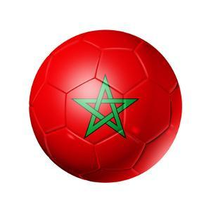Soccer Football Ball With Morocco Flag by daboost