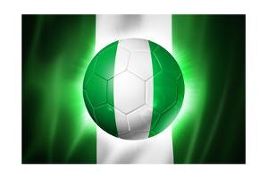 Soccer Football Ball with Nigeria Flag by daboost