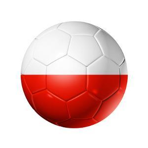 Soccer Football Ball With Poland Flag by daboost