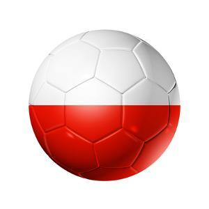 Soccer Football Ball With Poland Flag by daboost