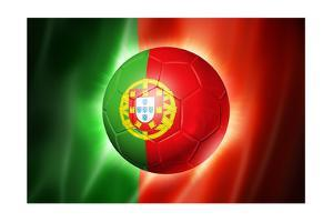 Soccer Football Ball with Portugal Flag by daboost