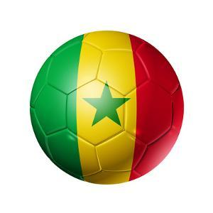 Soccer Football Ball With Senegal Flag by daboost