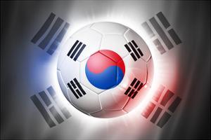 Soccer Football Ball with South Korea Flag by daboost