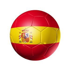Soccer Football Ball With Spain Flag by daboost