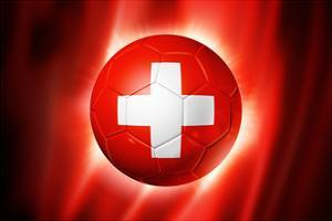 Soccer Football Ball with Switzerland Flag by daboost