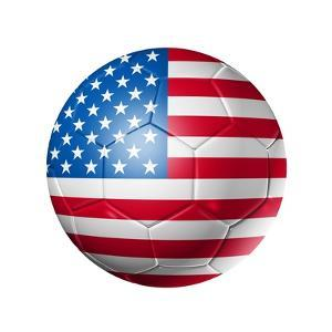 Soccer Football Ball With Usa Flag by daboost