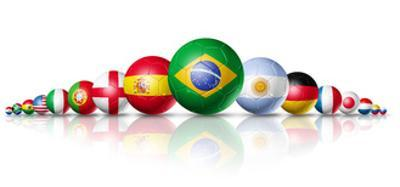Soccer Football Balls Group With Teams Flags by daboost