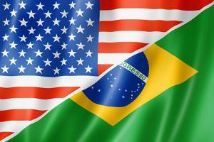 Usa And Brazil Flag by daboost