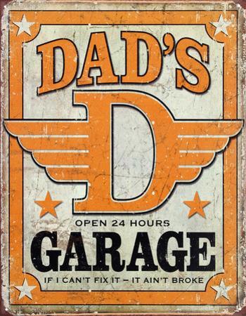 Dad's Garage Distressed Retro Vintage Tin Sign