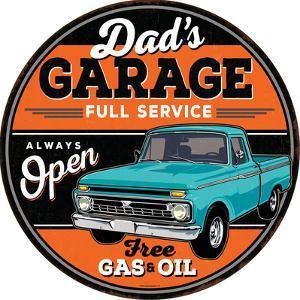 Dad's Garage Full Service Tin Sign