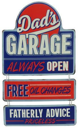 Dad's Garage Linked Sign