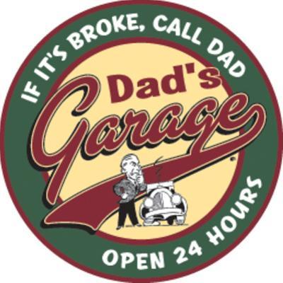 Dad's Garage Round Tin Sign