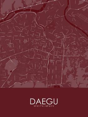 Daegu, Korea, Republic of Red Map
