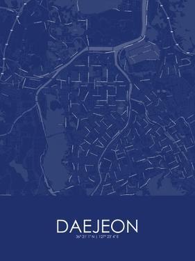 Daejeon, Korea, Republic of Blue Map