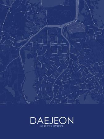 Daejeon, Korea, Republic of Blue Map