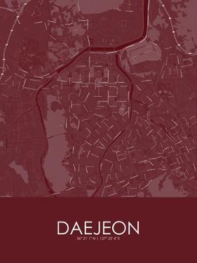 Daejeon, Korea, Republic of Red Map