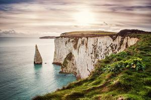 Old Harry Rocks, Located at Handfast Point, on the Isle of Purbeck in Dorset, Southern England, Uni by Dafinka