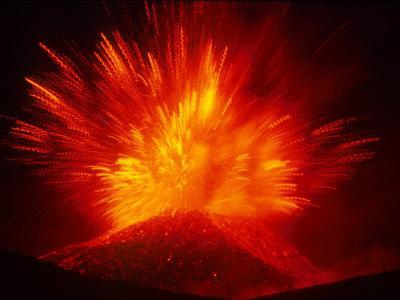 Explosive Vent on the North Side of the Montagnola, Mt. Etna, Sicily, Italy