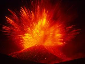 Explosive Vent on the North Side of the Montagnola, Mt. Etna, Sicily, Italy by Daisy Gilardini