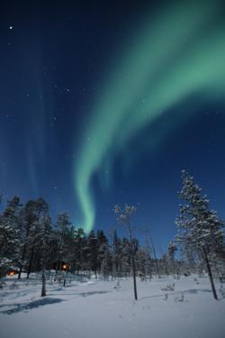 Scandinavia, Finland, Lapland, Ivalo, The Aurora borealis by Daisy Gilardini