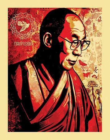 Dalai Lama Compassion Graffiti Poster