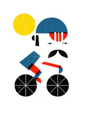 Moustached Cyclist by Dale Edwin Murray