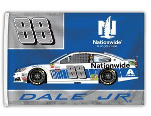 Dale Jr. 1-Sided Flag with Number