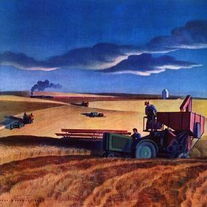 """Wheat Harvest,""June 1, 1942 by Dale Nichols"
