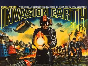 Daleks' Invasion Earth: 2150 A.D., British poster art, 1966