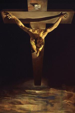 Dali Christ of St John of the Cross Plastic Sign