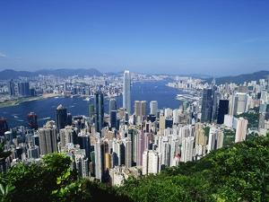 Skyline of Hong Kong Seen from Victoria Peak, China by Dallas and John Heaton