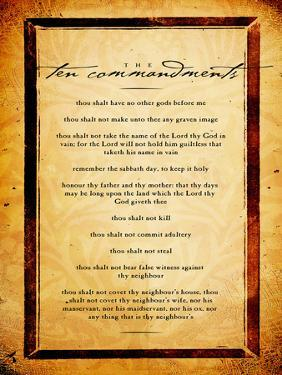 Ten Commandments by Dallas Drotz